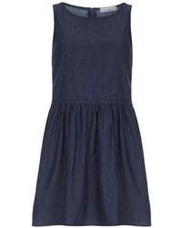Petite denim smock dress medium 57360