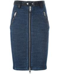 Diesel Front Zip Denim Skirt