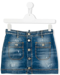 DSQUARED2 Kids Stonewash Denim Skirt