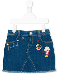 Little Marc Jacobs Patch Denim Skirt
