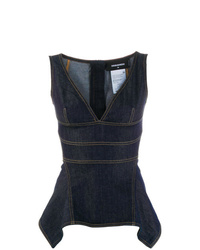 Dsquared2 Denim Peplum Top