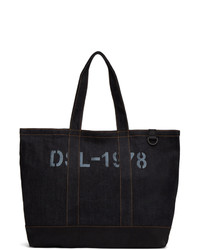 Diesel Indigo And Black D Thisbag Shopping Tote