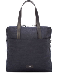 Closed Navy Denim Leather Tote