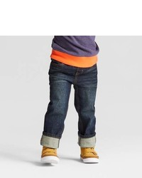 Cat & Jack Toddler Boys Skinny Rib Waist Denim Pants Blue