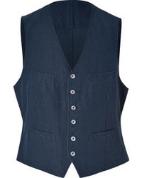Polo Ralph Lauren Linencotton Vest In Navy