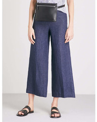 Theory Terena Wide Leg Linen Trousers