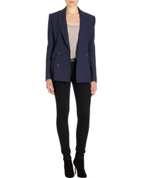 Barneys New York Boyfriend Jacket Blue Size 40