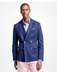 Brooks Brothers Cotton Twill Double Breasted Blazer