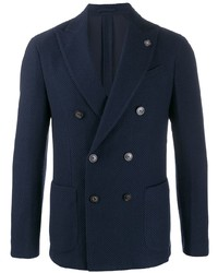 Lardini Double Breasted Fitted Blazer