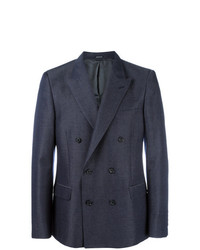 Alexander McQueen Double Breasted Jacket Blue