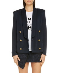 Balmain Double Breasted Knit Jacket