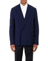 Lanvin Double Breasted Sportcoat Blue Size 50 Eu