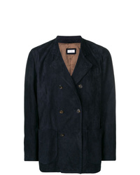 Brunello Cucinelli Double Breasted Suede Jacket