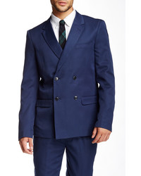Edge By Wdny Blue Double Breasted Notch Lapel Sport Coat