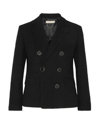 Vanessa Bruno Epone Double Breasted Cotton Blend Cloqu Blazer