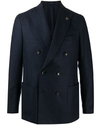 Lardini Fitted Double Breasted Blazer