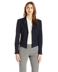 Ellen Tracy Knit Double Breasted Blazer