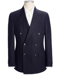 Lands' End Lands End Traditional Admiral Sport Coat Linen Cotton