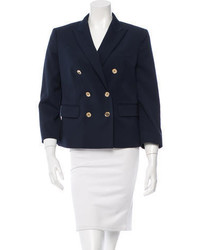 Michael Kors Michl Kors Double Breasted Wool Blazer