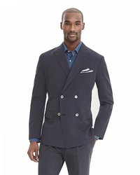 6ec8559f0bf9 ... Banana Republic Modern Slim Navy Cotton Double Breasted Suit Jacket