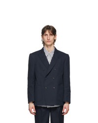 Noah NYC Navy Double Breasted Blazer