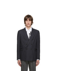 Neil Barrett Navy Skinny Fit Double Breasted Blazer
