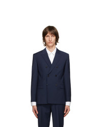 Hugo Navy Slim Fit Wool Jacket