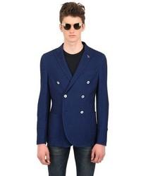 Paoloni Slim Fit Techno Cotton Jersey Blazer