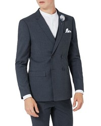 Skinny fit double breasted suit jacket medium 4353966