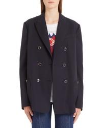 Valentino V Detail Wool Gabardine Jacket