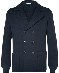 Tomas Maier Blue Double Breasted Knitted Wool Blazer