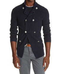 Brunello Cucinelli Double Breasted Cotton Cardigan