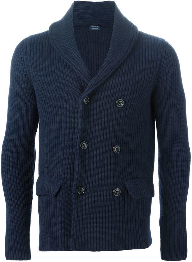 Drumohr Double Breasted Chunky Knit Cardigan | Where to buy & how ...