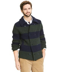 Tommy Hilfiger Rugby Stripe Knit Peacoat