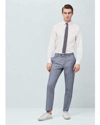 Mango Outlet Birds Eye Suit Trousers
