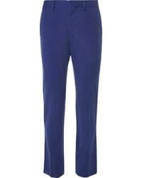Stella McCartney Blue Slim Fit Woven Suit Trousers