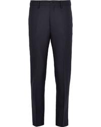 Acne Studios Blue Stan Slim Fit Herringbone Wool Trousers