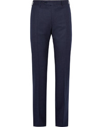 Canali Blue Super 120s Wool Flannel Trousers