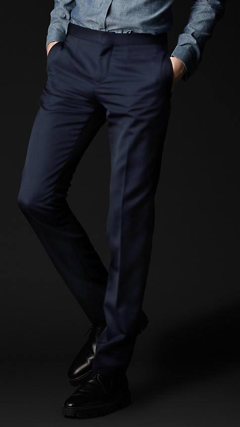 Burberry Virgin Wool Tuxedo Trousers