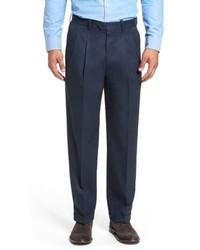 Nordstrom Men's Shop Classic Smartcare Supima Cotton Pleated Trousers