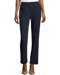 Neiman Marcus Essential Trouser Pants Navy