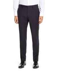 BOSS Genius5 Slim Fit Check Stretch Wool Dress Pants