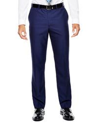 JF J.Ferrar Jf J Ferrar Blue End On End Flat Front Suit Pants Slim Fit