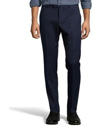 Gucci Navy Cotton Blend French Zip Fly Pleated Front Dress Pants