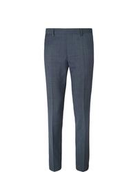 Hugo Boss Navy Genesis Slim Fit Virgin Wool Trousers