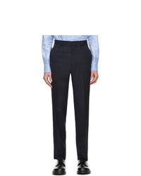 Comme des Garcons Homme Deux Navy Herringbone Trousers