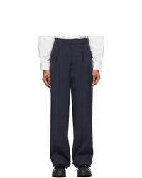 Jacquemus Navy Le Pantalon Cavaou Trousers