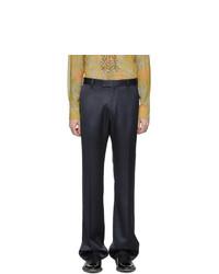 Dries Van Noten Navy Prowse Trousers