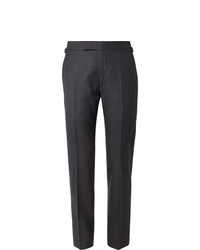 Tom Ford Navy Shelton Slim Fit Puppytooth Wool Suit Trousers