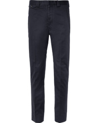 Maison Martin Margiela Navy Slim Fit Cropped Cotton Suit Trousers